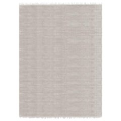 Meditative Lines Customizable Today Weave Rug in Moon Large