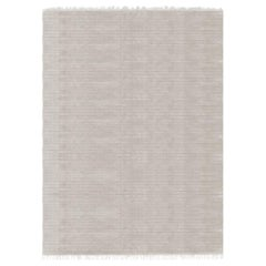Meditative Lines Customizable Today Weave Rug in Moon Small