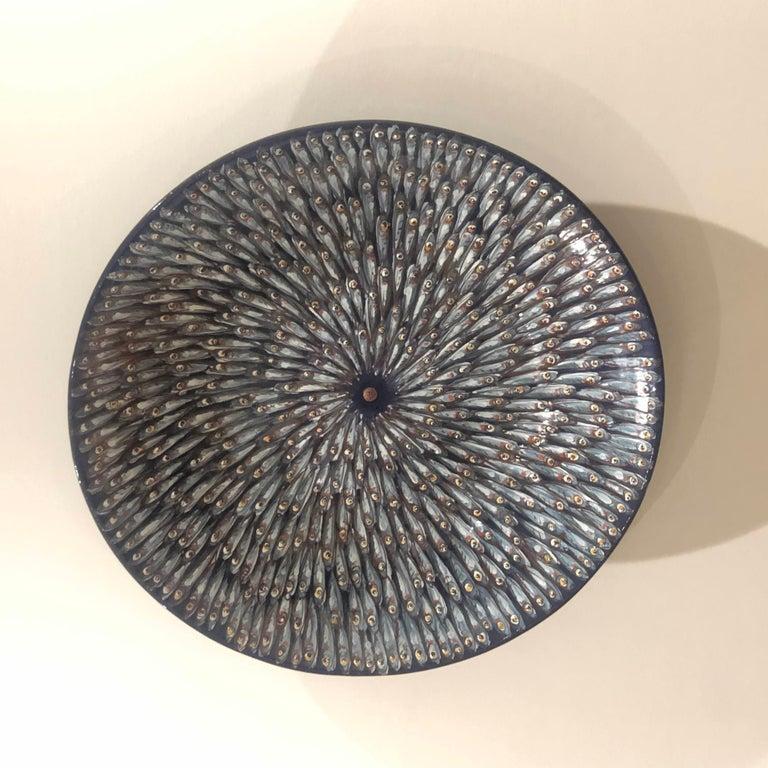 Italian Mediterranea Ceramic Plate Hand Painted Glazed Earthenware Italy Contemporary For Sale