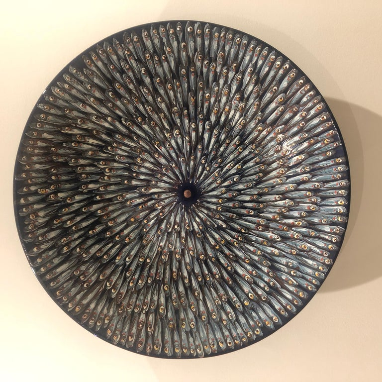 Mediterranea Ceramic Plate Hand Painted Glazed Earthenware Italy Contemporary In New Condition For Sale In London, GB