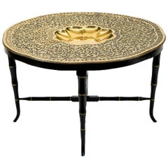 Mediterranean Brass Tray Table
