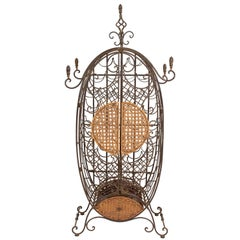 Mediterranean Iron Wine Shelf / Rack