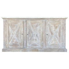 Mediterranean Style ALPI Cabinet, Dolomiti Finish, Carrara Marble, Custom Sizes