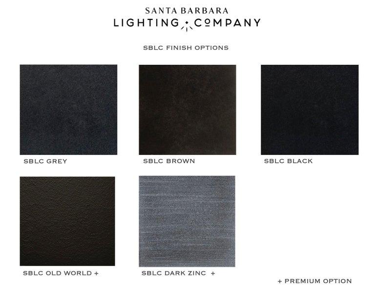 Mediterranean Style Outdoor Lantern Flush Mount, Grey  In New Condition For Sale In Santa Barbara, CA