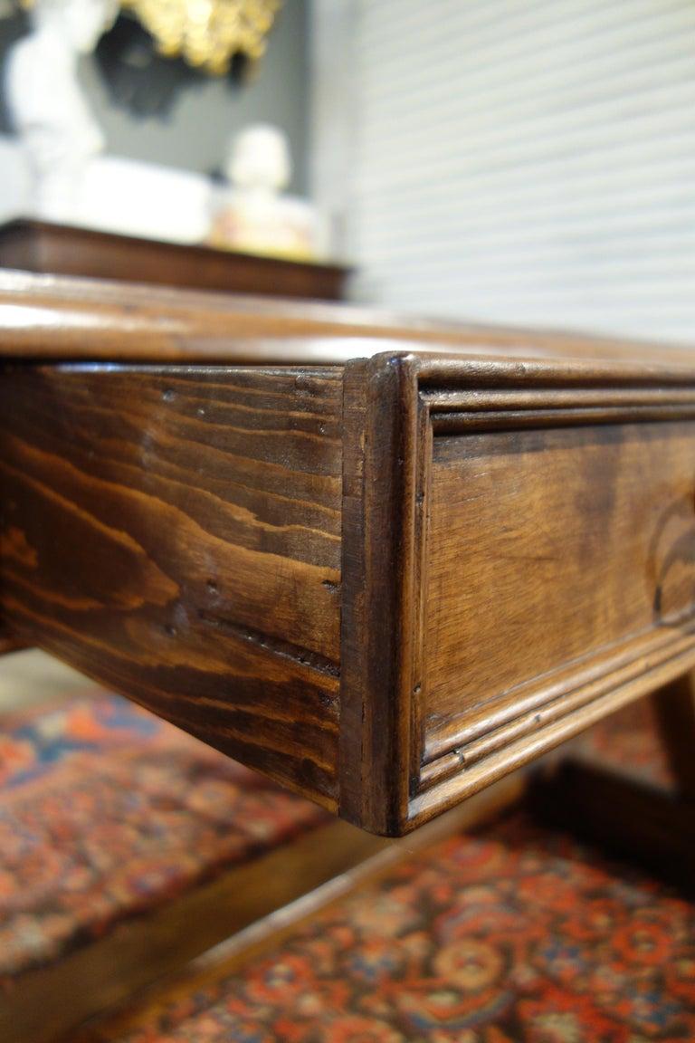 Mediterranean Style AMALFI Italian Old Walnut Writing Table, Custom Size For Sale 3