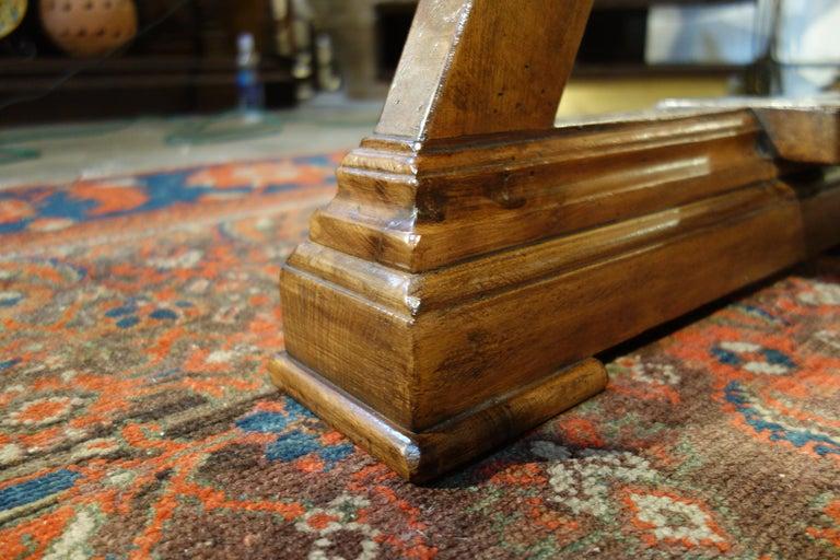 Mediterranean Style AMALFI Italian Old Walnut Writing Table, Custom Size For Sale 4