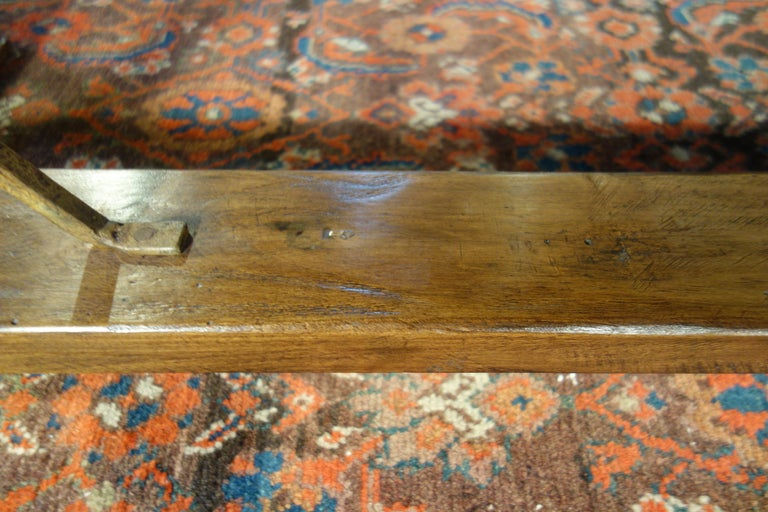 Mediterranean Style AMALFI Italian Old Walnut Writing Table, Custom Size For Sale 8