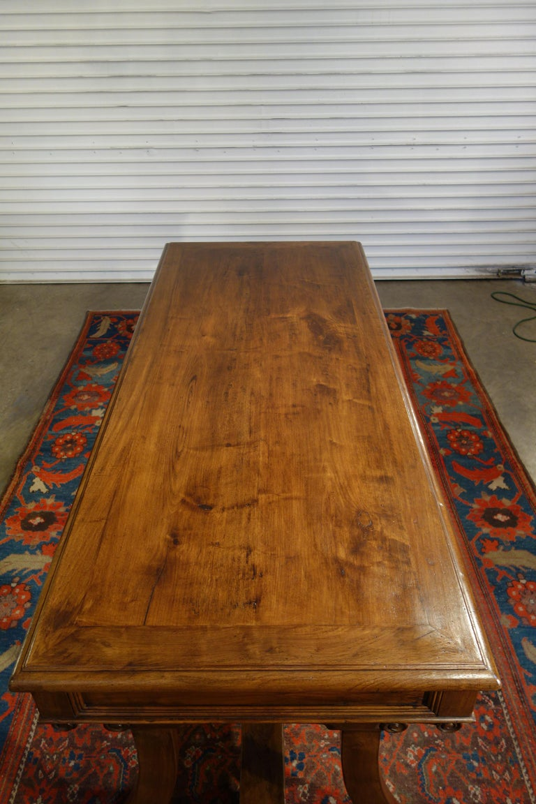 Iron Mediterranean Style AMALFI Italian Old Walnut Writing Table, Custom Size For Sale