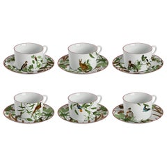 Mediterraneo, Tea Set with Six Contemporary Porcelains with Decorative Design