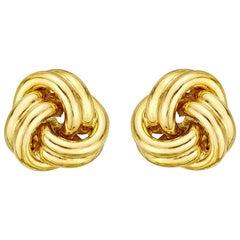 Medium 18 Karat Yellow Gold Knot Earstuds