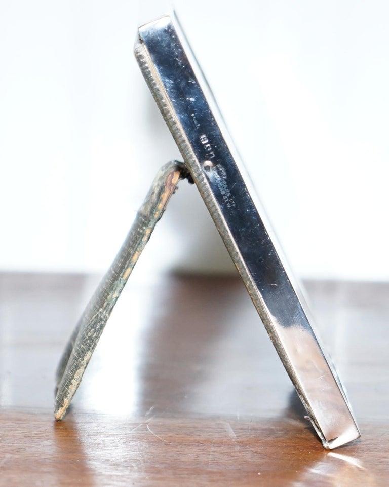 English Medium 1929 Sterling Silver Asprey London Year to View Desk Art Calendar Leather For Sale