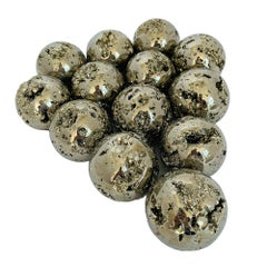 "Medium 2.5"" Diameter Polished Pyrite Spheres"