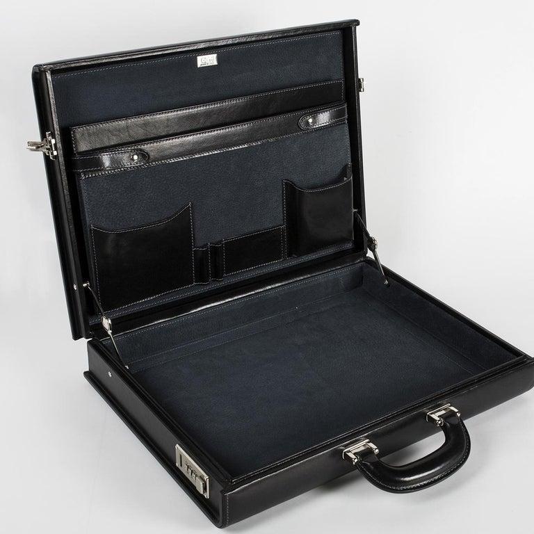 Contemporary Medium Black Pagoda Attachè Case For Sale