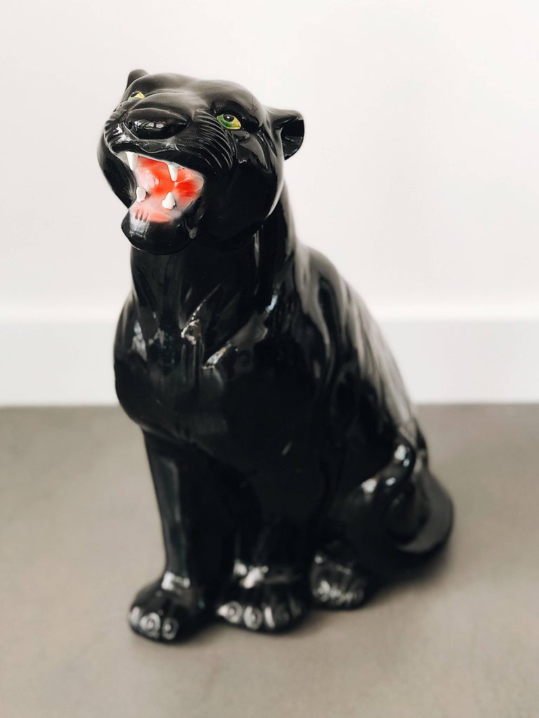 Italian ceramic, perfect condition, produced in 1960s. We have also small and large black panthers, check our products.