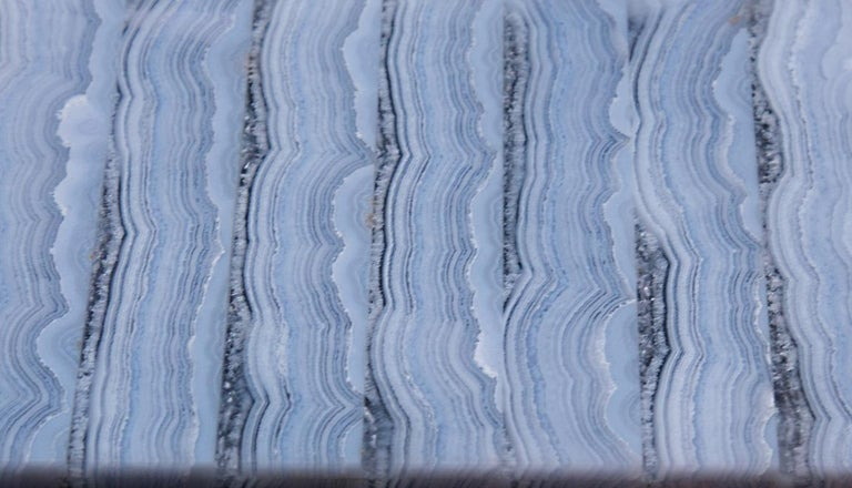 Medium Blue Lace Agate Hinged Stone Box For Sale 3