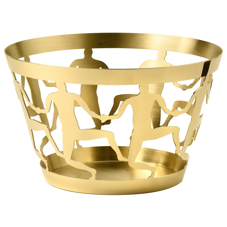 Medium Bowl in Polished Brass by Andrea Branzi