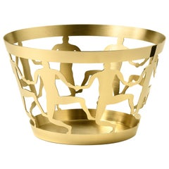 Medium Bowl in Polished Brass by Andrea Branzi