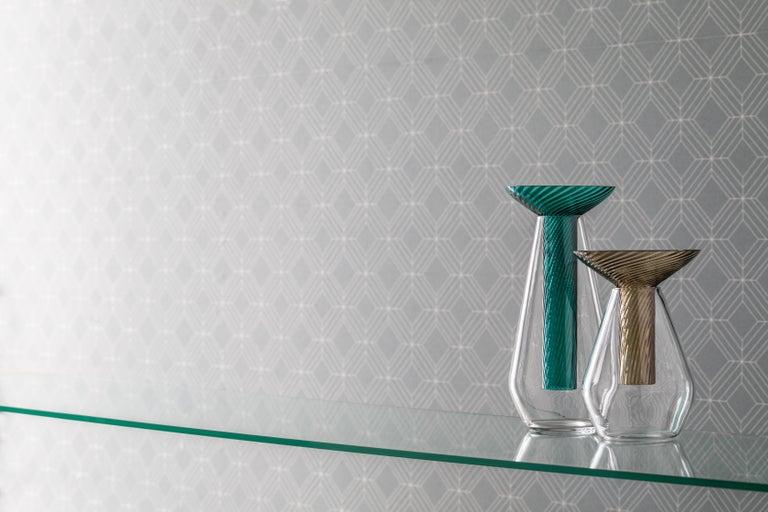 Medium Calici Vase in Murano Glass by Federico Peri In New Condition For Sale In Venezia, IT