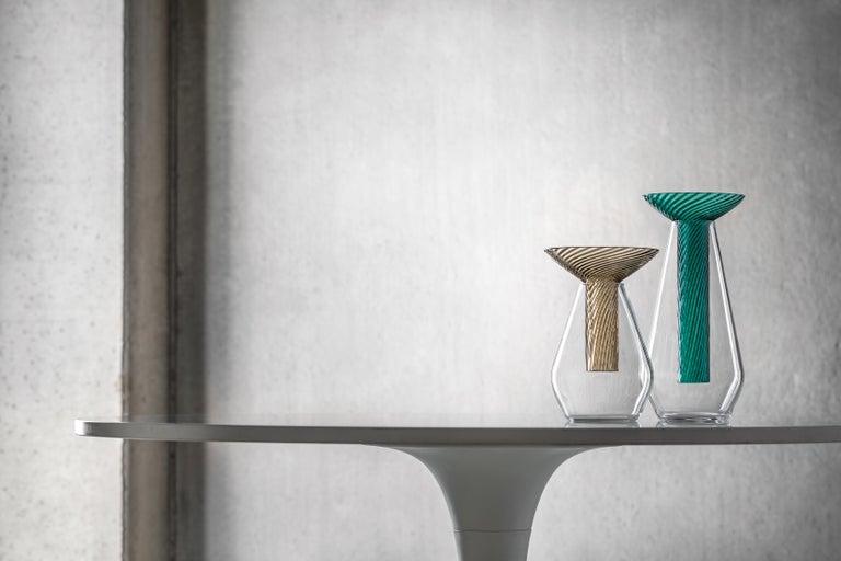 Contemporary Medium Calici Vase in Murano Glass by Federico Peri For Sale