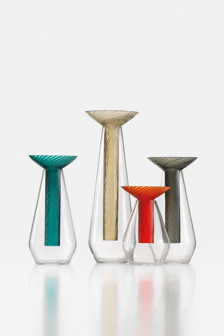 Medium Calici Vase in Murano Glass by Federico Peri For Sale 1