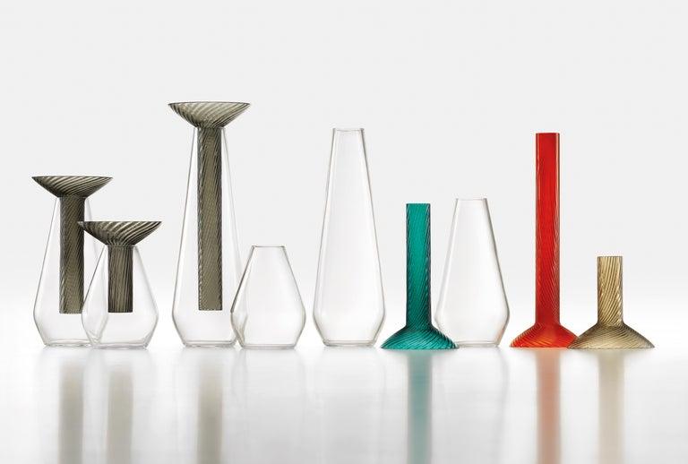 Medium Calici Vase in Murano Glass by Federico Peri For Sale 2