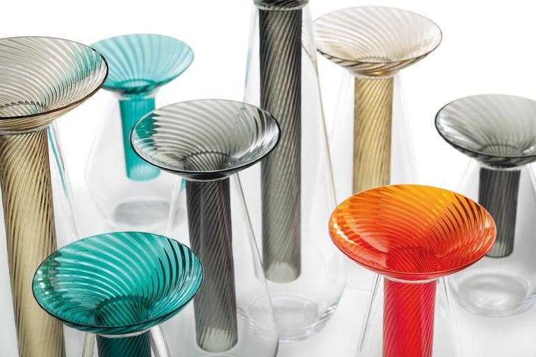 Medium Calici Vase in Murano Glass by Federico Peri For Sale 3