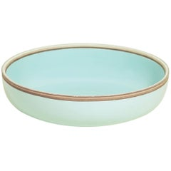 Medium Celadon Glazed Porcelain Hermit Bowl with Rustic Rim