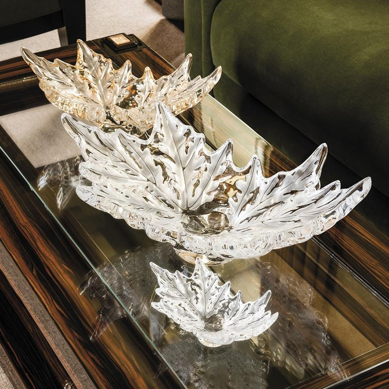 Medium Champs-Élysées Bowl in Crystal Glass by Lalique In New Condition For Sale In New York, NY