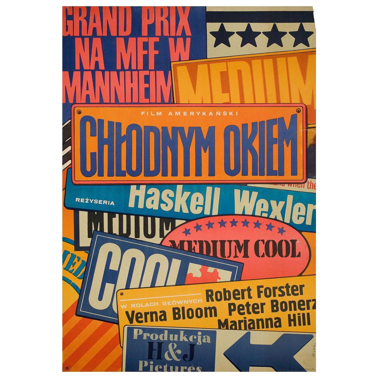 Medium Cool 1969 Polish A1 Film Poster