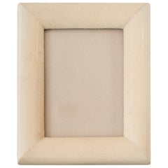 Medium Cream Authentic Shagreen Covered Picture Frame