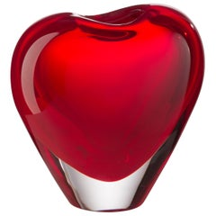 Medium Cuore Cuoricino Vase in Murano Glass by Maria Christina Hamel