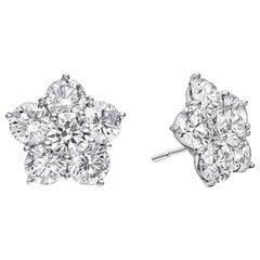 """Medium Diamond """"Astra"""" Stud Earrings '3.20 Carat'"""