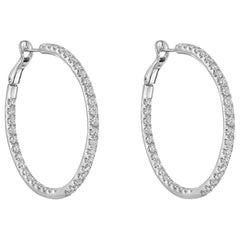 Medium Diamond Hoop Earrings '3 Carat'