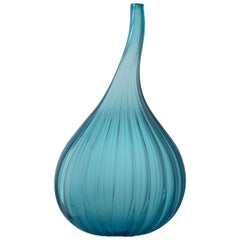Medium Drops Lucido Vase in Glass by Renzo Stellon