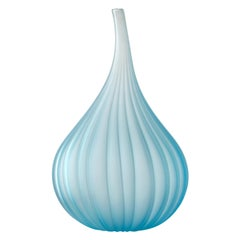 Medium Drops Satinato Vase in Murano Glass by Renzo Stellon