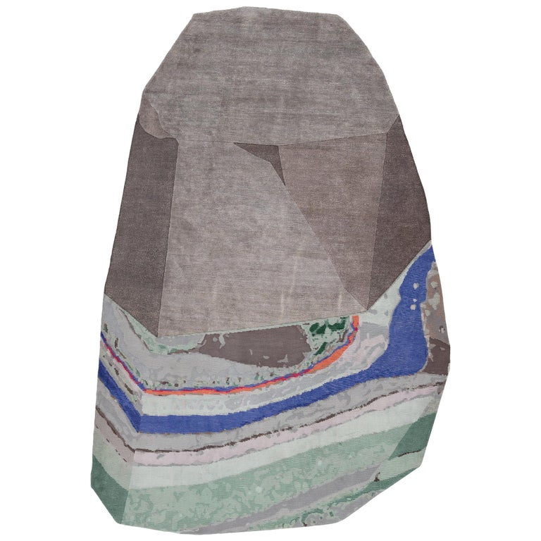 Medium Fordite Rock Shaped Rug by Patricia Urquiola for CC-Tapis For Sale