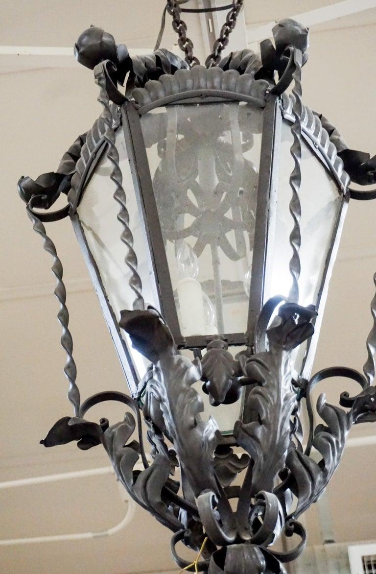 French Medium Hanging Lantern For Sale