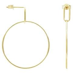 Medium Hoola Hoop 9 Karat Yellow Gold Earrings