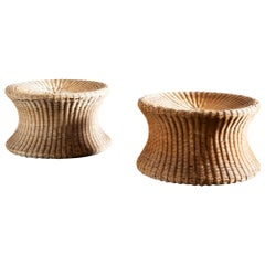 Medium Juttu Wicker Stools by Eero Aarnio, Finland, 1960s