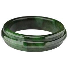 Jade Bangle Medium-Large Wyoming Nephrite Jade
