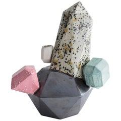 Medium Multi-Color Gem Cluster in Glazed Ceramic by Kelly Lamb, 2017