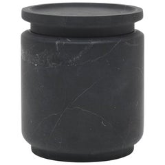 Medium Pot in Black Marquinia Marble, by Ivan Colominas, Italy in Stock