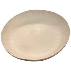 Medium Round Ceramic White Bowl, Italy, Contemporary