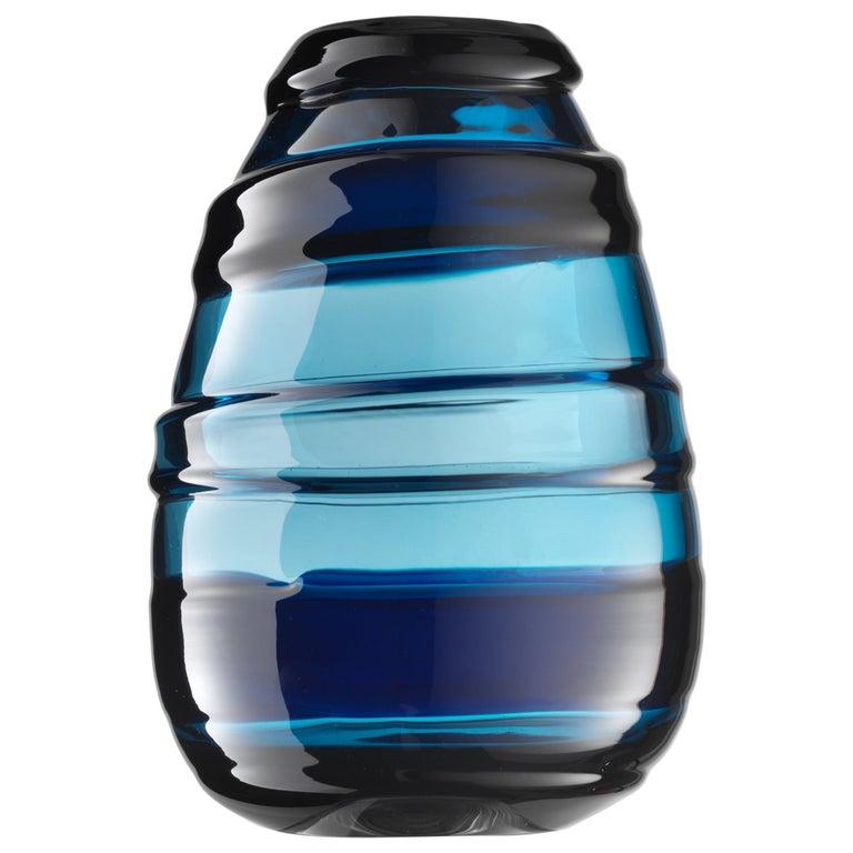 For Sale: Blue (02363) Medium Sassi Murano Glass Vases by Luciano Gaspari