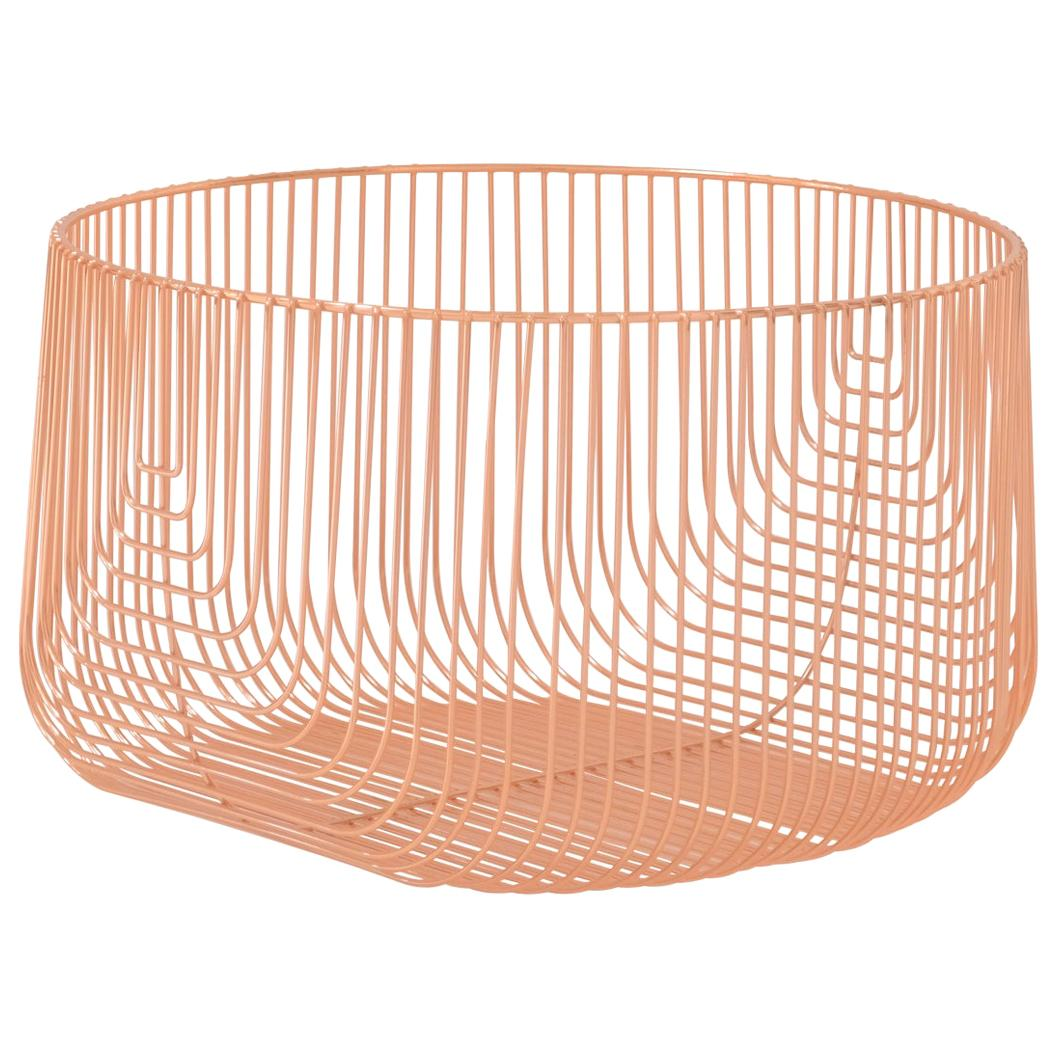 Medium Sized Basket, Wire Basket Design by Bend Goods, Copper