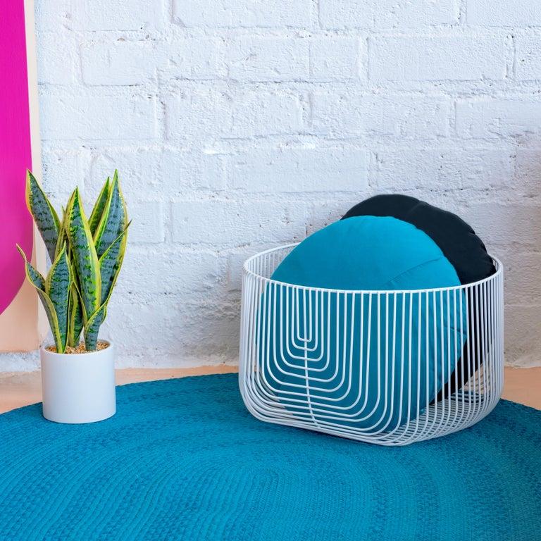 Modern Medium Sized Basket, Wire Basket Design by Bend Goods, Gold For Sale