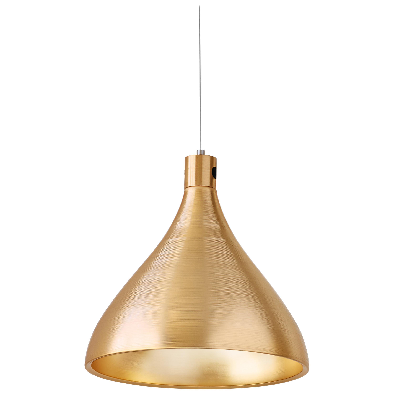 Medium Swell String Pendant Light in Brass by Pablo Designs