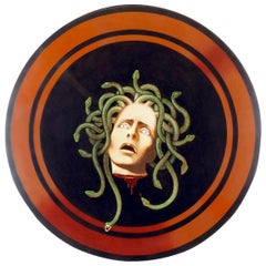 Medusa Shield Original Painting by Lynn Curlee