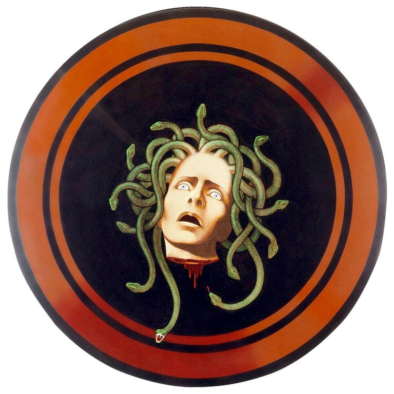 Medusa Shield Original Painting by Lynn Curlee For Sale