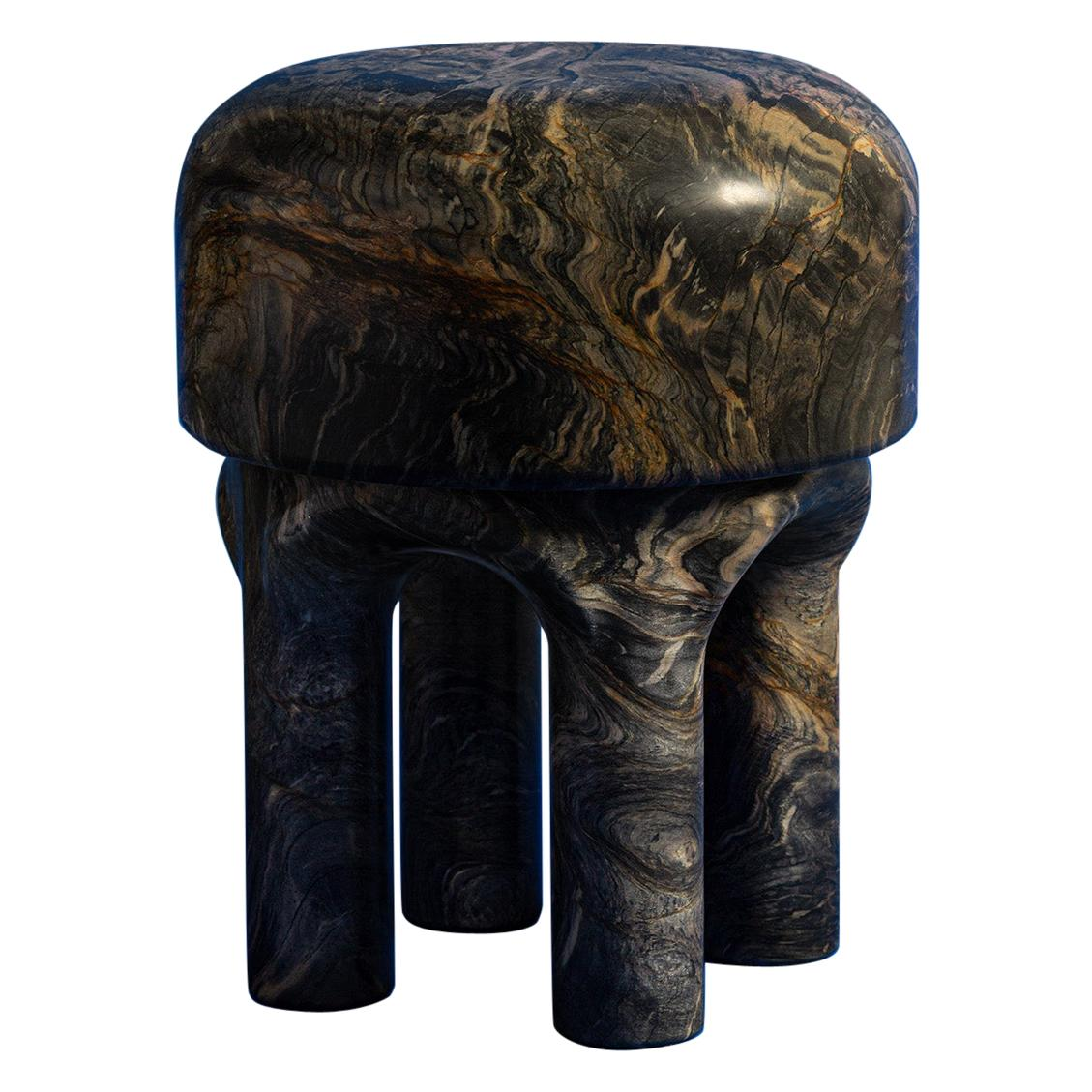 Spinzi  Medusa side table / stool dark marble